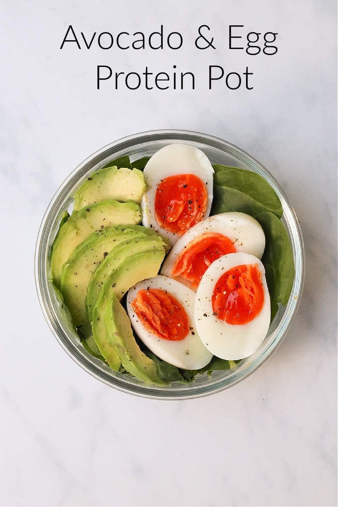 avocado & egg protein pot