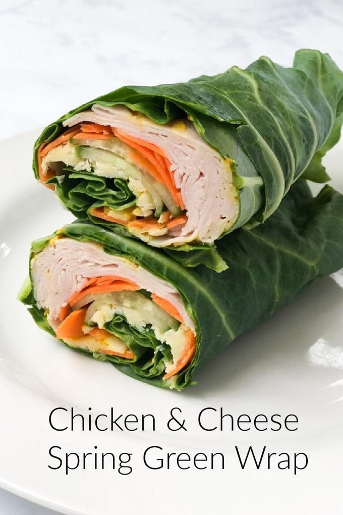 Chicken & Cheese Spring Green Wrap Pinterest Pin