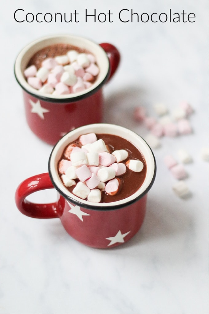 Coconut Hot Chocolate Pinterest Pin