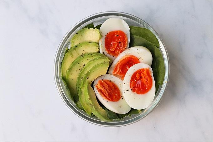egg and avocado protein pot