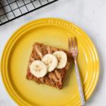 Barras de café da manhã com manteiga de amendoim e banana - My Fussy Eater 5