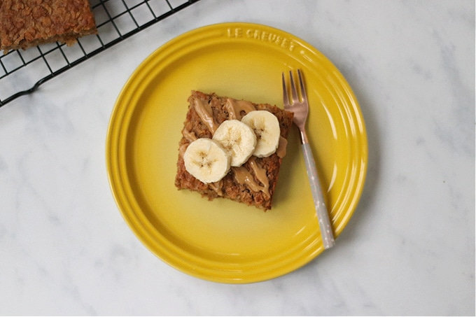 Peanut Butter & Banana Breakfast Bars