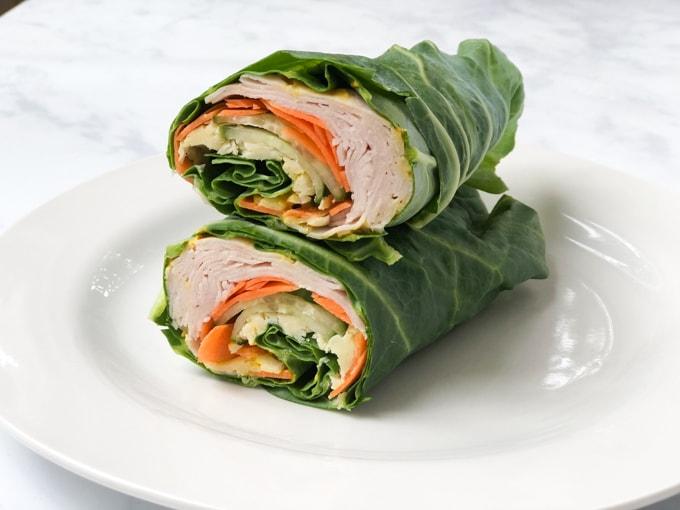 Chicken & Cheese Spring Green Wrap