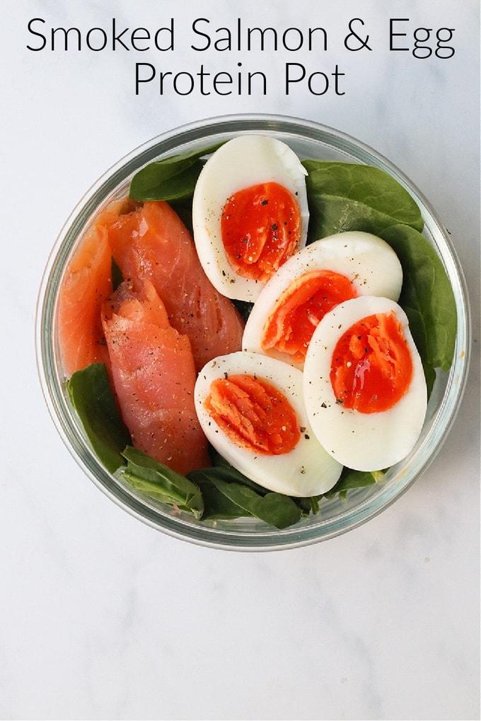 Smoked Salmon & Egg Protein Pot Pinterest Pin