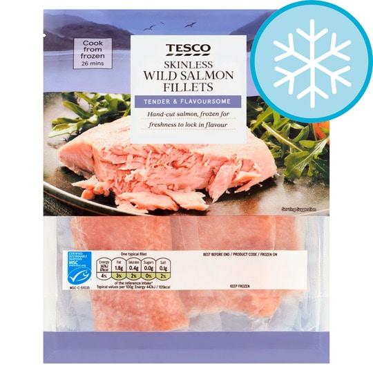Tesco frozen salmon fillets