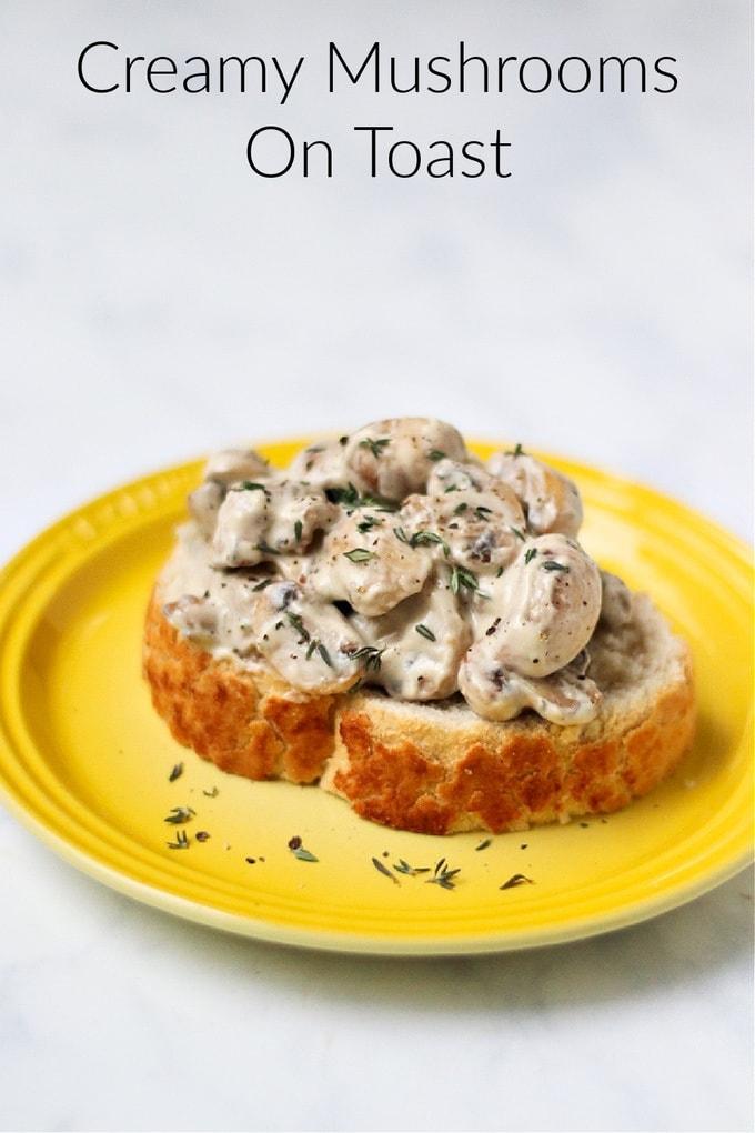 Creamy Mushrooms On Toast Pinterest Pin