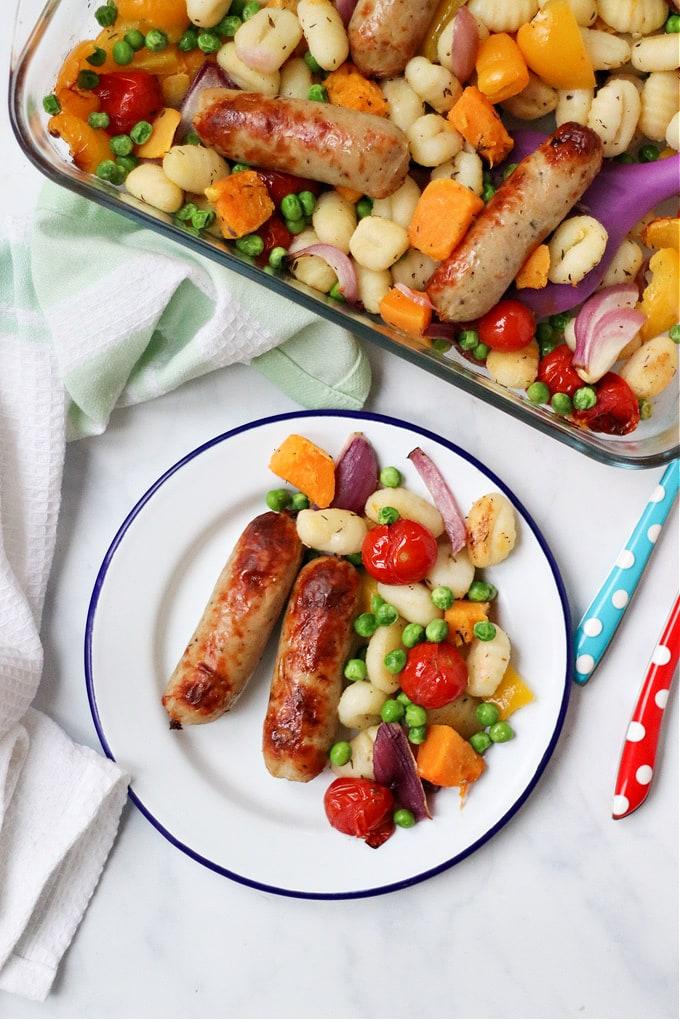 Gnocchi Sausage Traybake