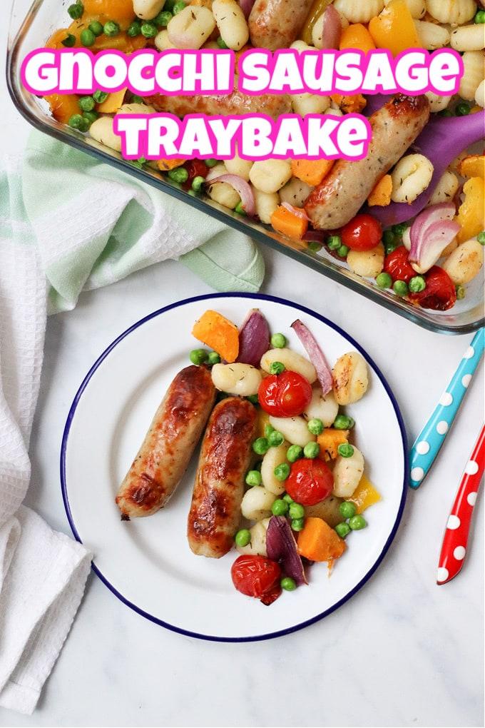 Gnocchi Sausage Traybake Pinterest Pin