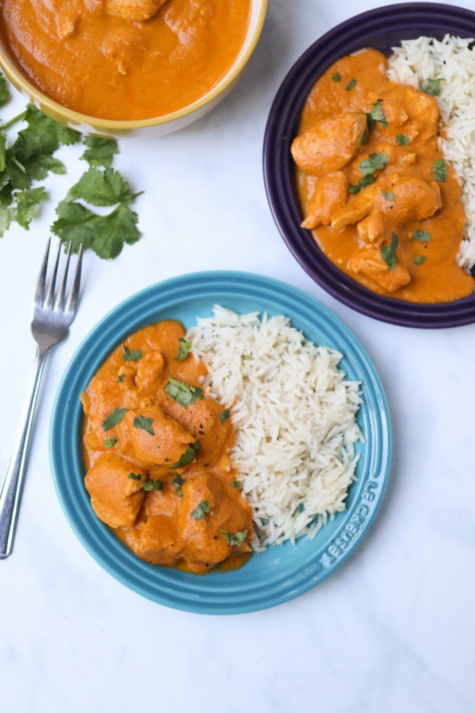 hidden veg chicken curry served with rice