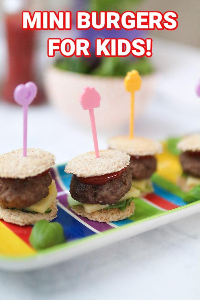 mini burgers for kids pinterest pin