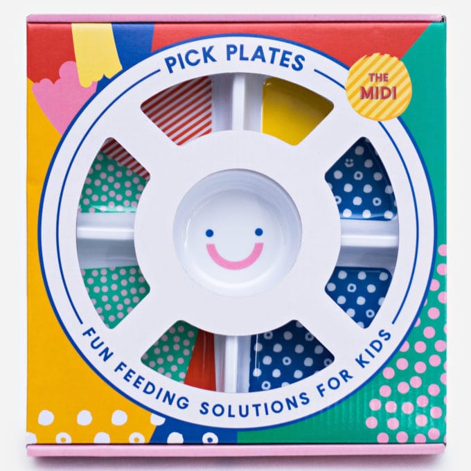 Plate for Fussy Eater - divided compartment plate for picky eating kids