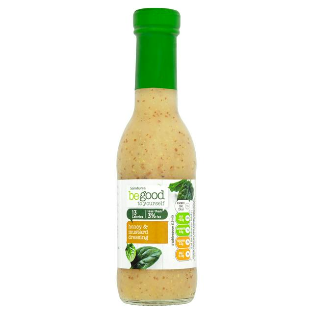 a bottle of Sainsbury's be good to yourself honey & mustard salad dressing